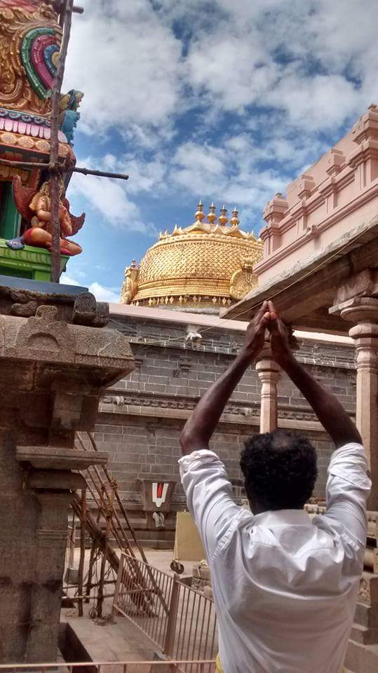 Srirangam Renganathar Gold tower
